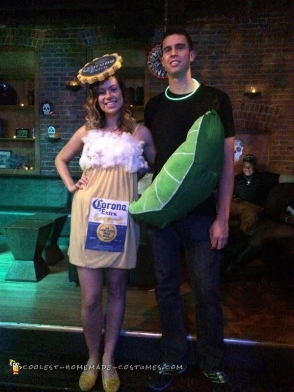 Corona and Lime Homemade Couple Costume 2015