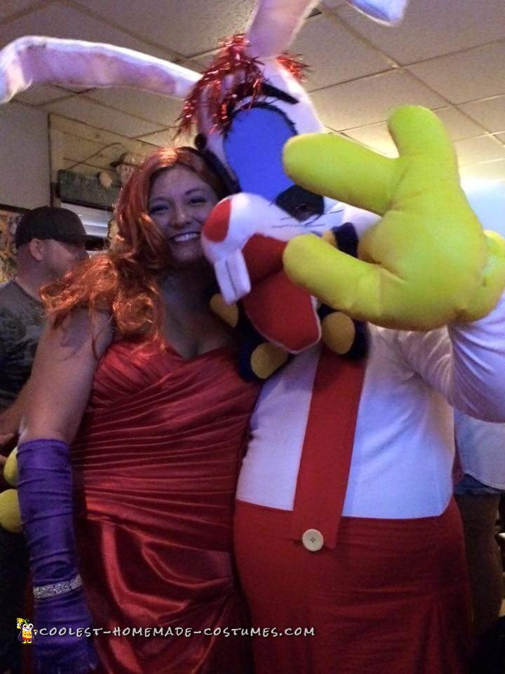 Crazy Roger and Jessica Rabbit Couple Costume