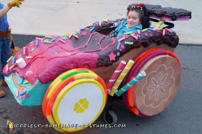 Wreck-It Ralph Family Costume with Sugar Racer Wheelchair Costume - 1