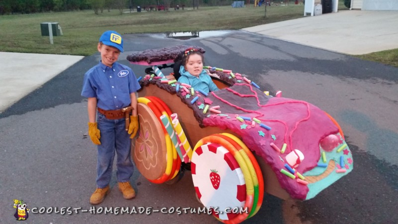 Wreck-It Ralph Family Costume with Sugar Racer Wheelchair Costume - 4