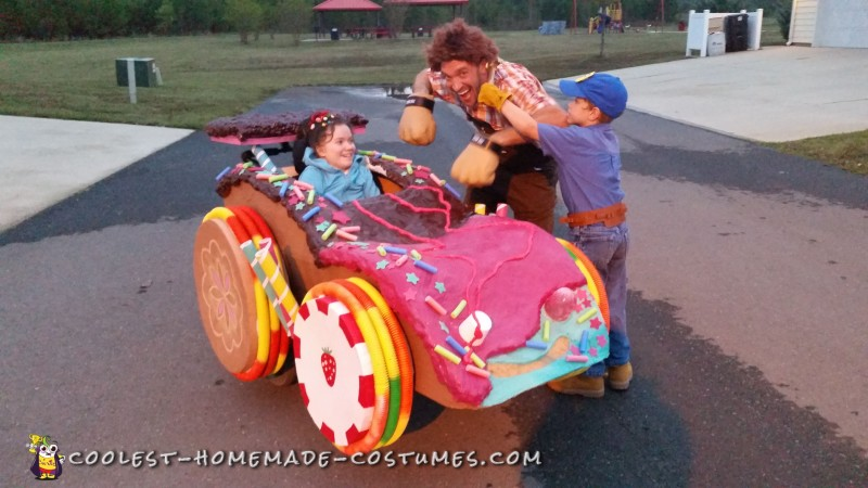Wreck-It Ralph Family Costume with Sugar Racer Wheelchair Costume - 5