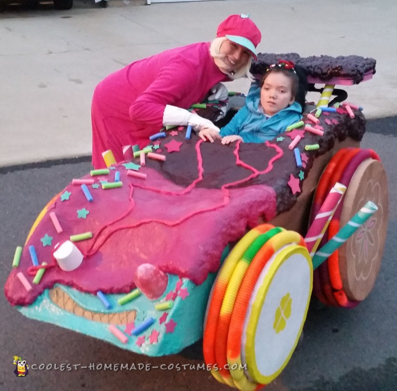 Wreck-It Ralph Family Costume with Sugar Racer Wheelchair Costume - 8