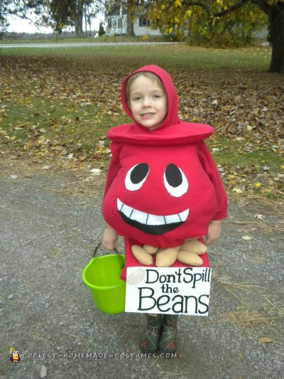 "Creative ""Don't Spill the Beans"" Costume"