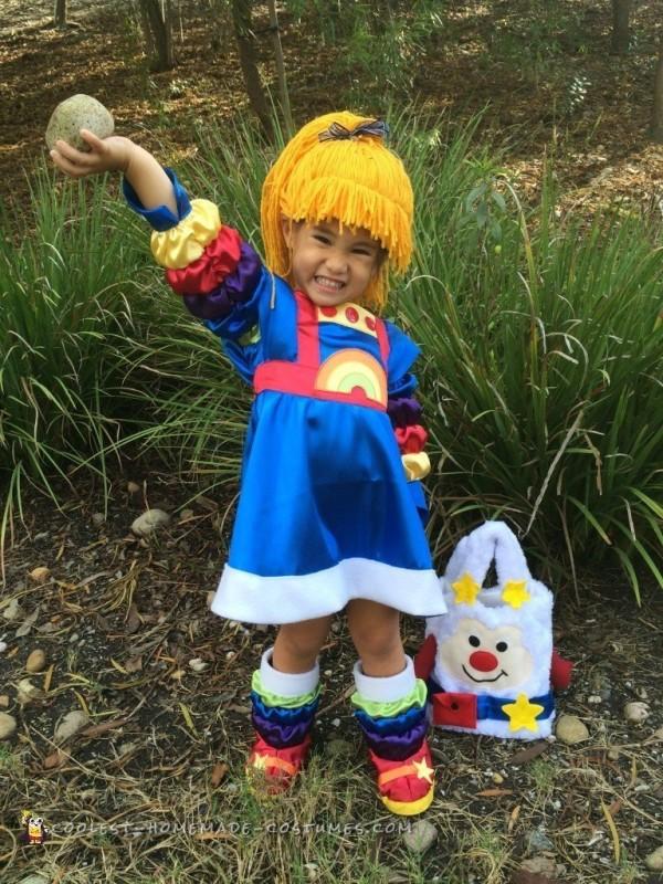 Cutest Ever Homemade Rainbow Brite Costume