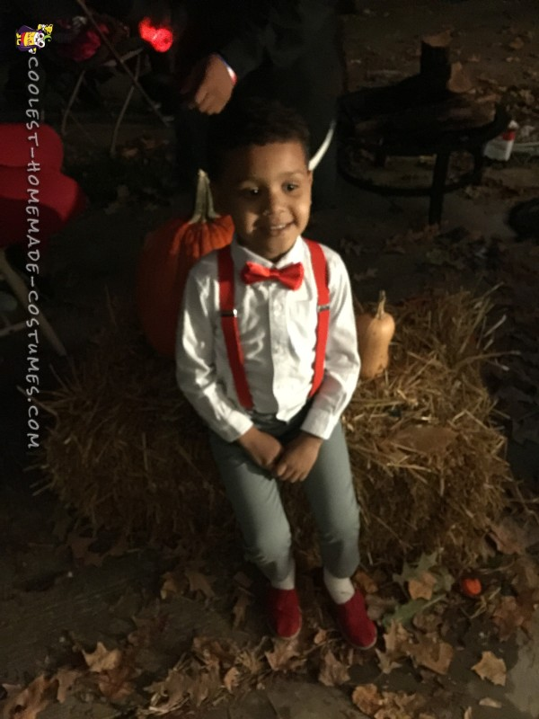 He even sat like Pee Wee at my sister Halloween party.