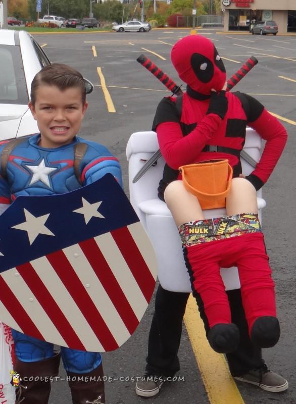 Deadpool on a Toilet Illusion Costume - 3