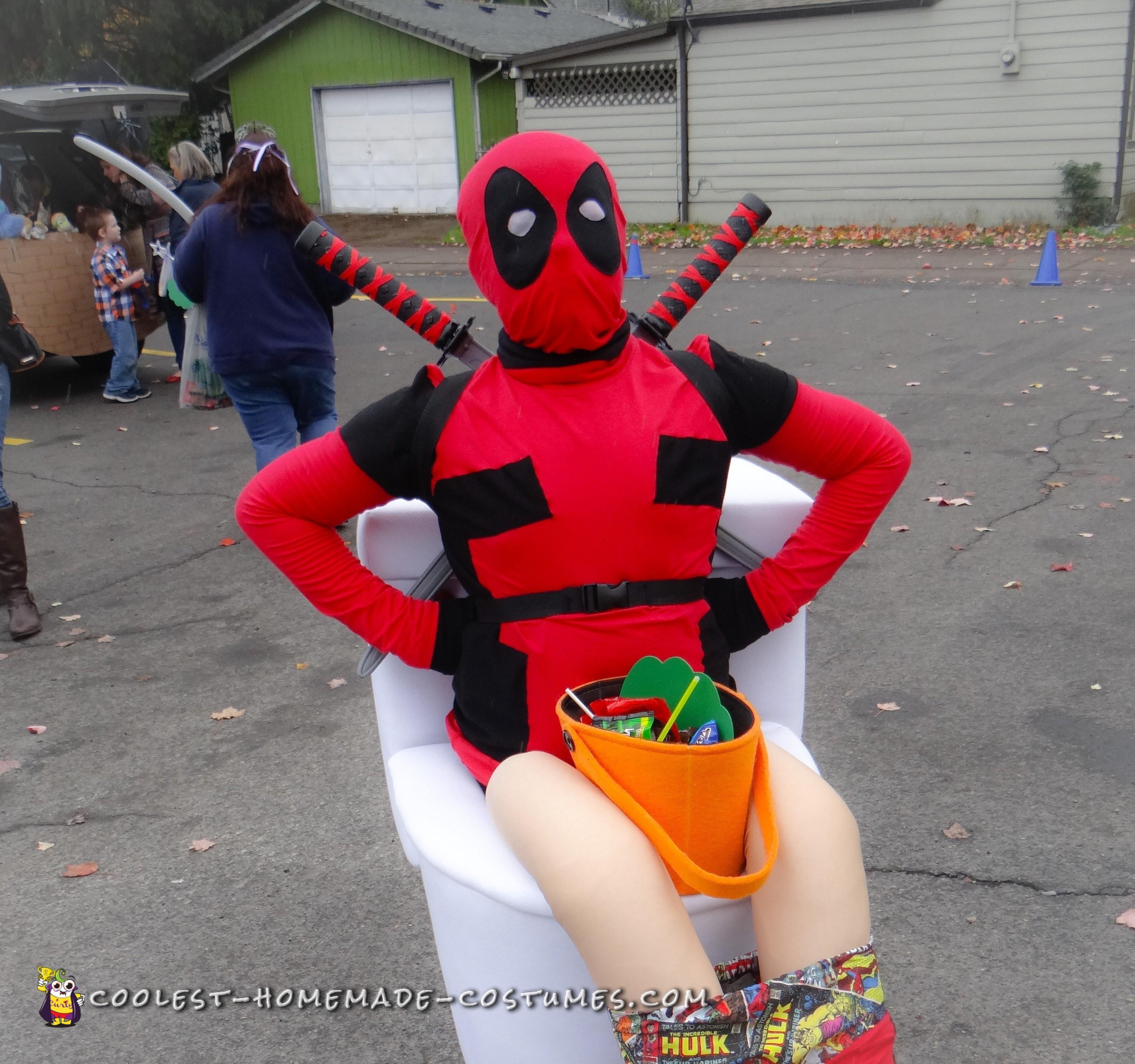 Deadpool on a Toilet Illusion Costume