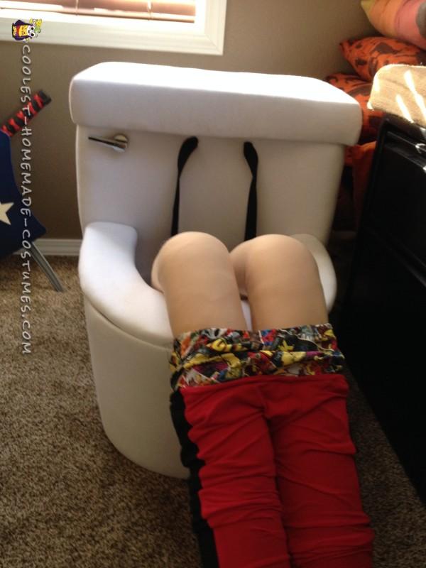 Deadpool on a Toilet Illusion Costume - 2