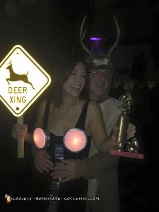 Deer In Headlights Couple Costume