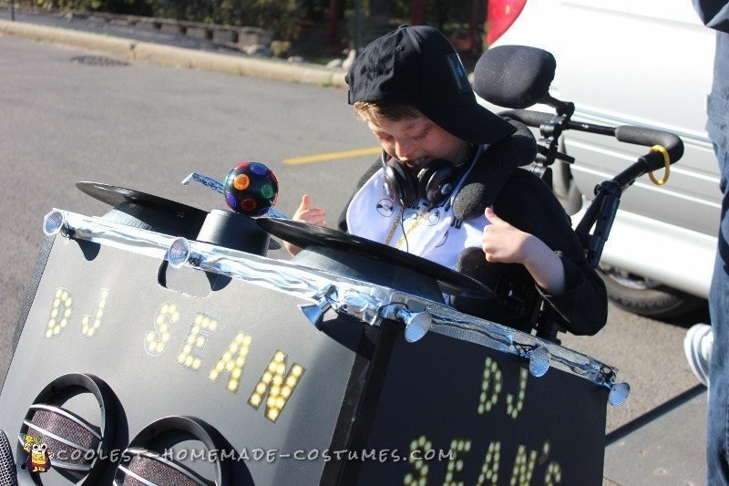 Coolest DJ Wheelchair Costume