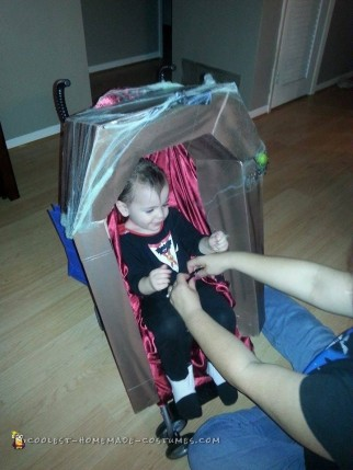 Coffin Stroller and Shark Stroller for Halloween