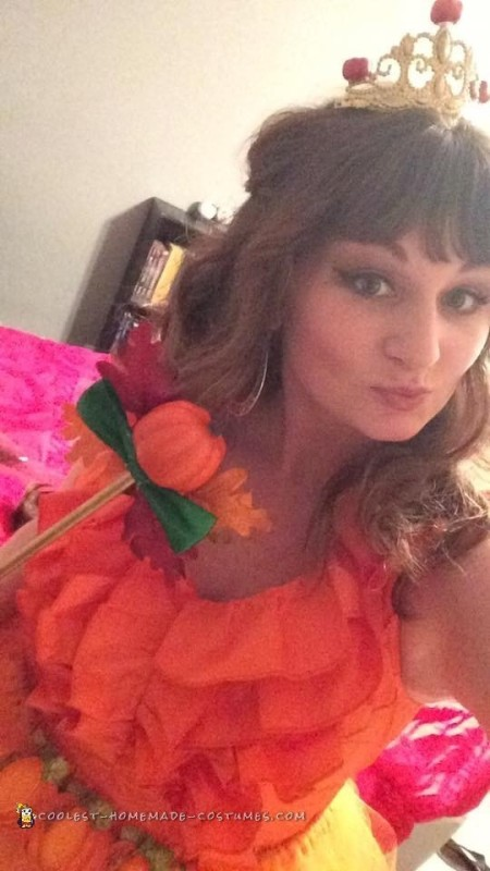 Easy and Creative Pumpkin Spice Princess Costume