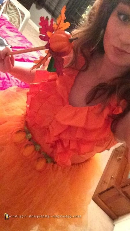 Easy and Creative Pumpkin Spice Princess Costume