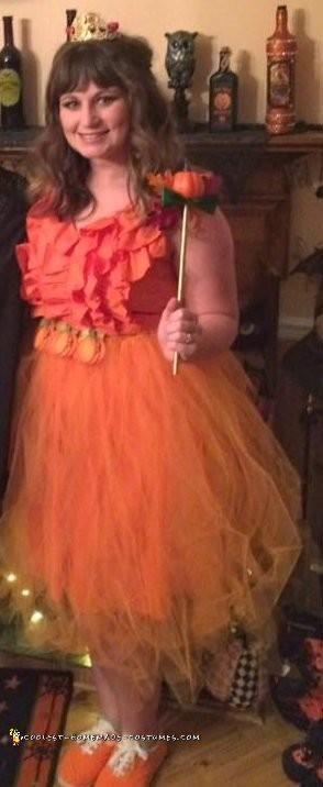 Easy and Creative Pumpkin Spice Princess Costume - 3