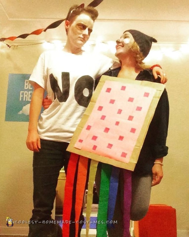 Easy Grumpy Cat vs. Nyan Cat Costume for Couples