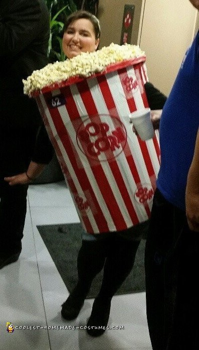 Easy Popcorn Bucket Costume