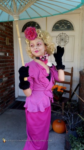 turning our 9 year old into the hunger games effie trinket