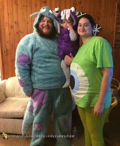 Family Monster's Inc. Group Costume