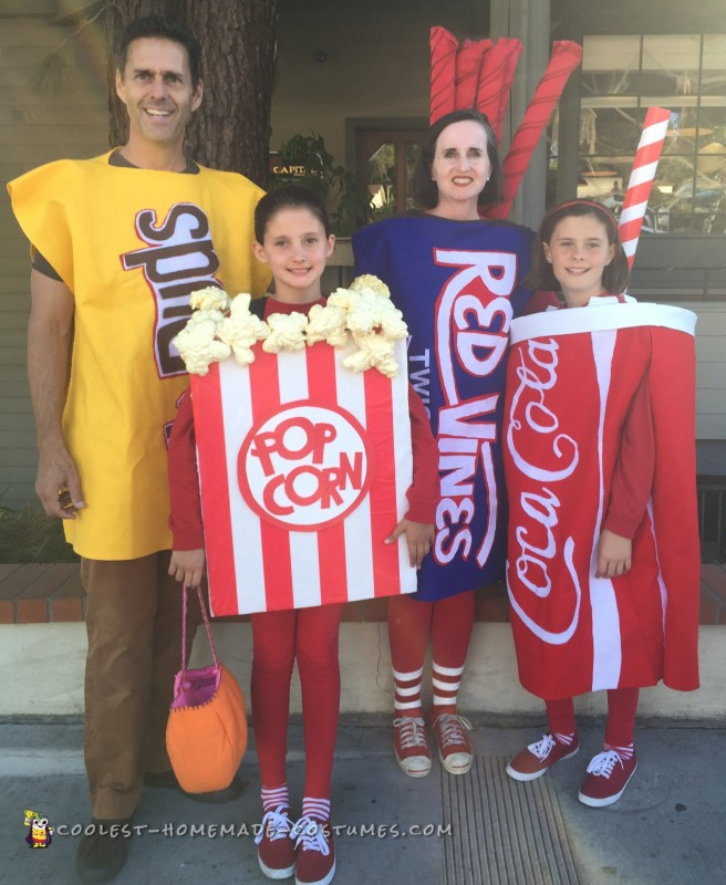 Family Movie Night Snacks Costumes