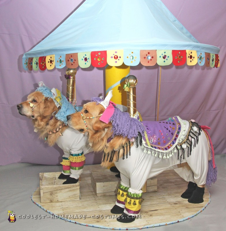 Phoenix and Gryphon the Carousel Horses