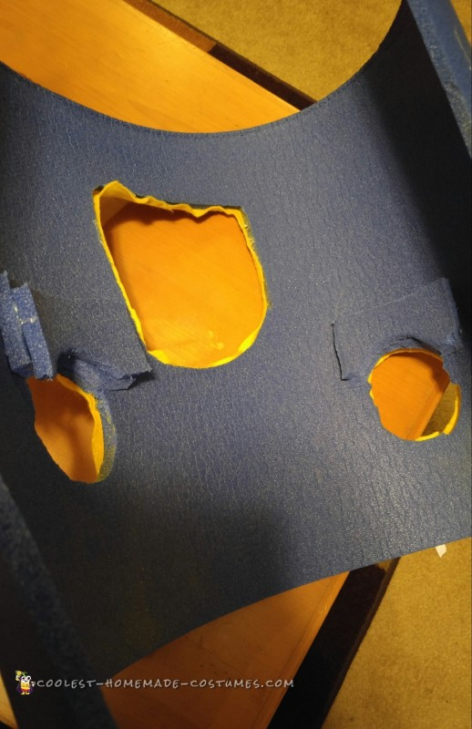 the inside of the tube with additional support over the shoulders .