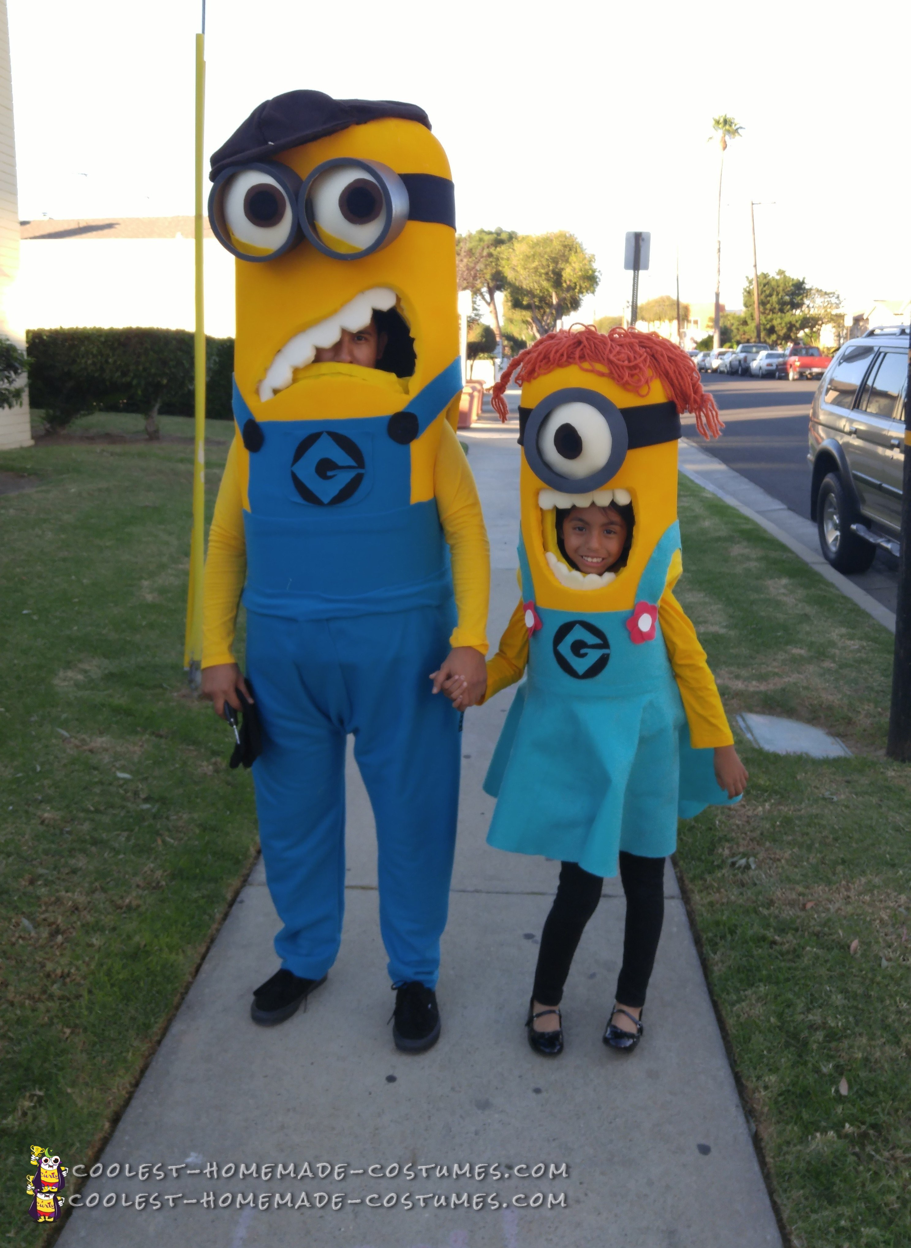 Father and Daughter Minions Costumes