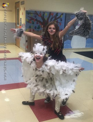 Feathery Snowy Owl Costume for my 8-Year Old Daughter