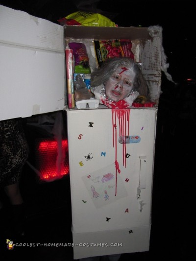 Frozen Head in Freezer Costume