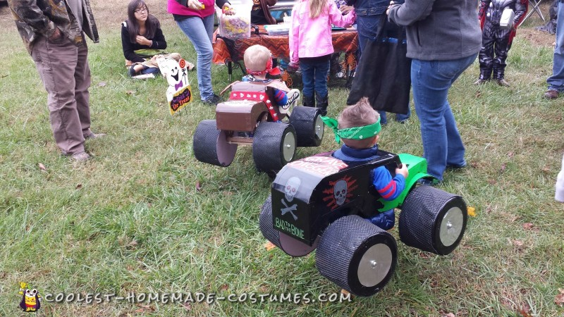 Monster Truck Costumes for Twins - 1