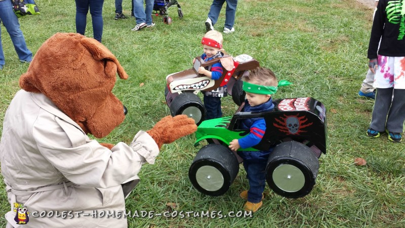 Monster Truck Costumes for Twins - 3