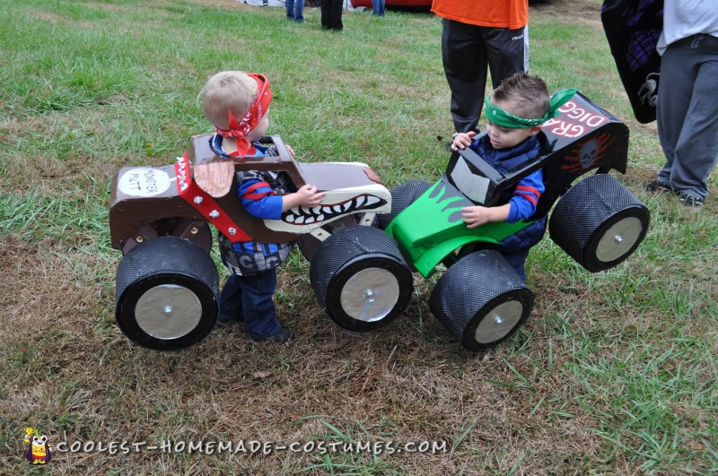Monster Truck Costumes for Twins