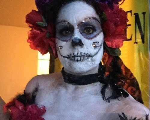 Dia de los Muertos Costume and Makeup