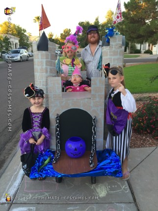 Handicap Little Girl Becomes a Princess