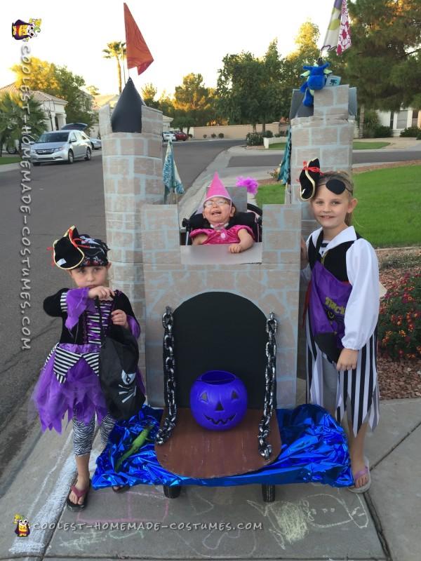 Handicap Little Girl Becomes a Princess