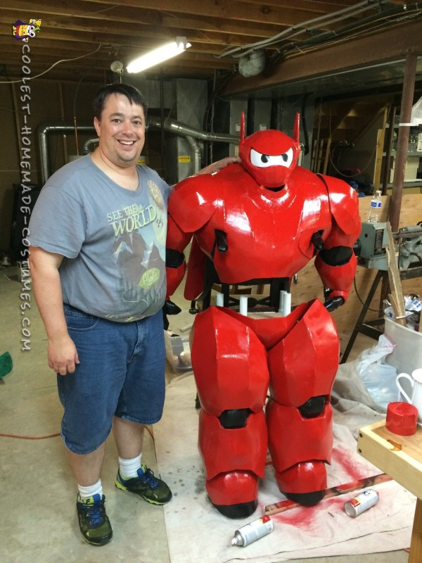 For scale, I am 6' tall. The Baymax costume stands almost as tall as I am.