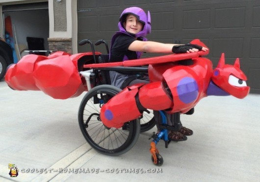 Hiro Riding Baymax Wheelchair Costume