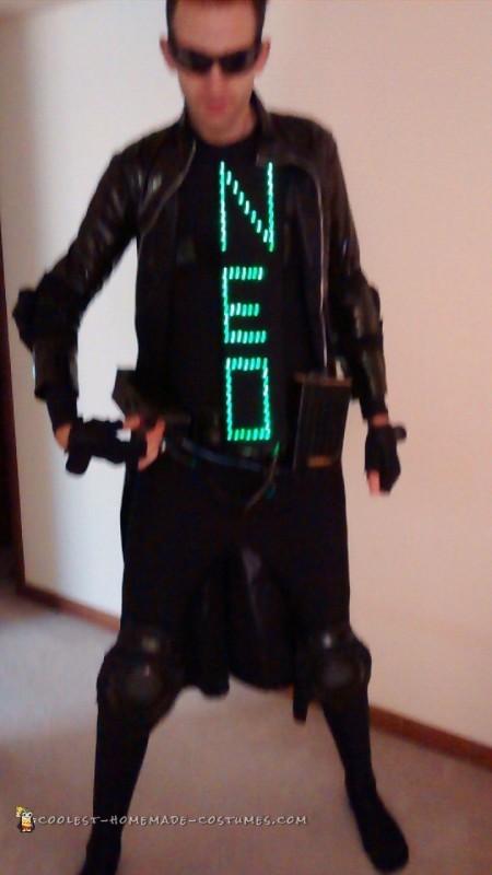 Homemade Self-Taught Matrix Costume: Neo, The One