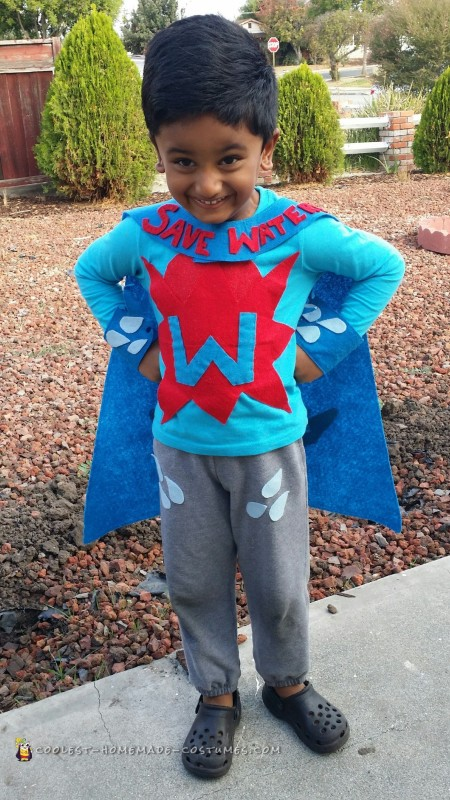 Homemade Water-Hero Costume
