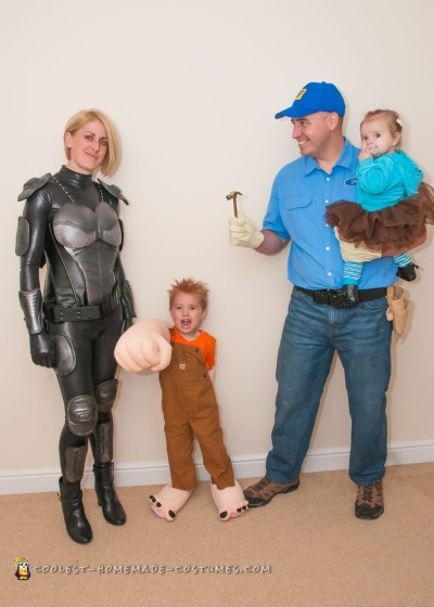 Homemade Wreck-It Ralph Family Costumes