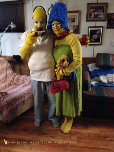 Homer and Marge Simpson Couple Costume