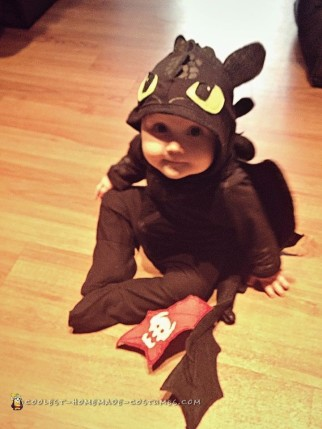 DIY How to Train Your Dragon Toothless Baby Costume for $12