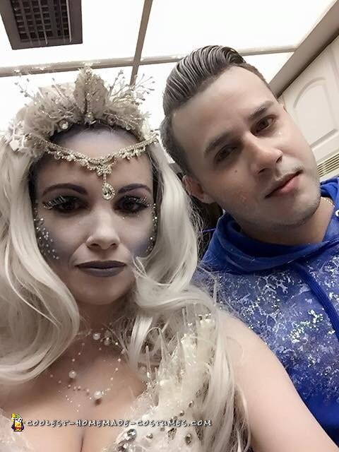 Cool Ice Queen and Jack Frost Couple Costume - 1