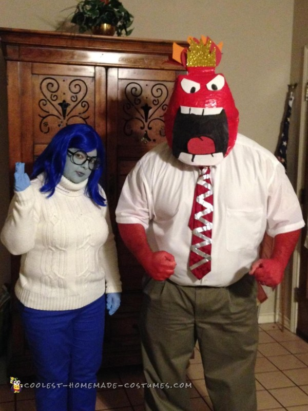 Cool Inside Out Costumes: Sadness and Anger - 1