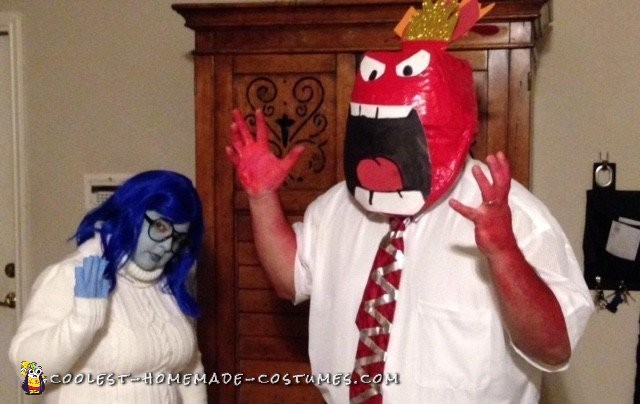 Cool Inside Out Costumes: Sadness and Anger - 3