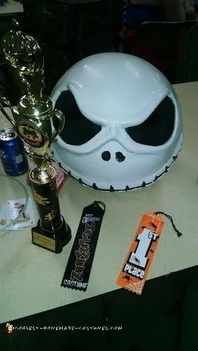 Completed head with trophy for best costume