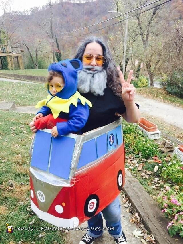 Jerry Garcia and his Dancing Bear Mom and Baby Costumes