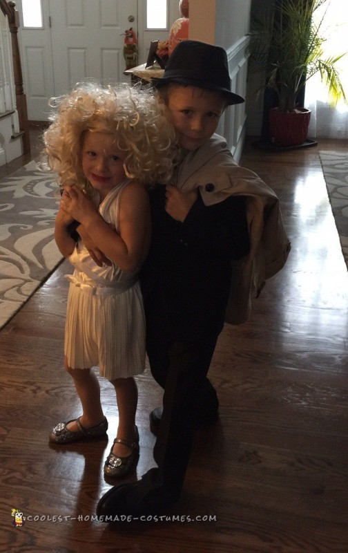 Kids Couple Costume: Marilyn Monroe and Frank Sinatra
