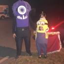 King Bob and Purple Minion Couple Costume