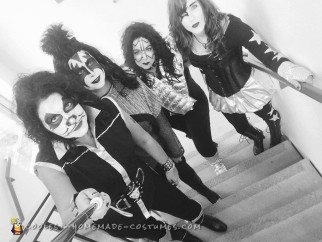 All-Girl Group Costume: KISS Rock Stars for a Day