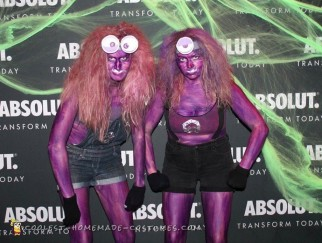 Last Minute DIY Evil Purple Minions Costumes